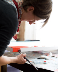 Emily Painting in the Studio