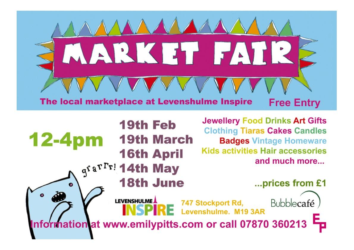Inspire levenshulme market fair for Local craft fairs near me