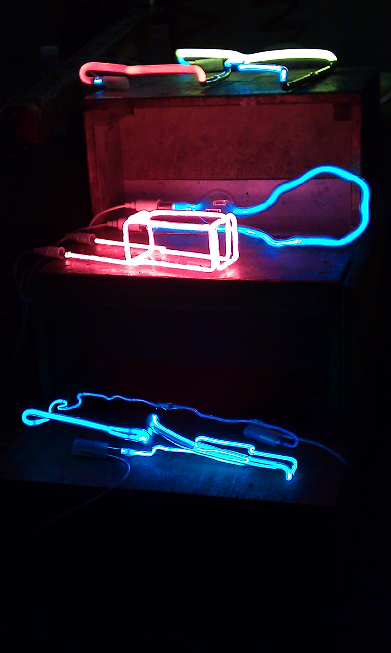 Neon Artworks created during Richard Wheater\'s Neon Workshop