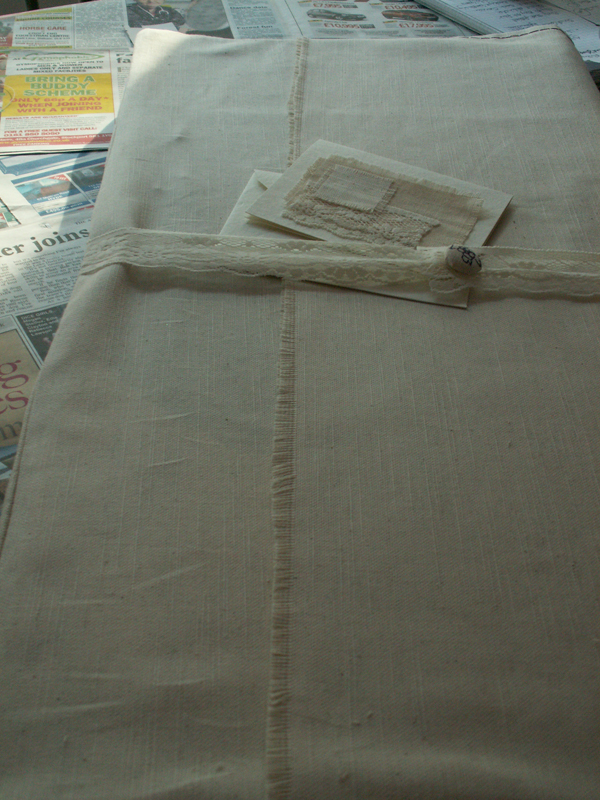 Cotton gift wrapping for Wedding Anniversary Gift